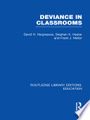 Deviance in Classrooms  RLE Edu M