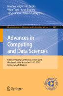 download ebook advances in computing and data sciences pdf epub