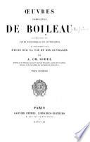 Œuvres de J. B. Rousseau avec une introduction sur sa vie et ses ouvrages et un nouveau commentaire par Antoine de Latour