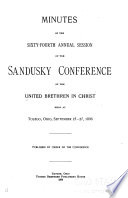 Minutes of the     Annual Session of the Sandusky Conference of the United Brethren in Christ