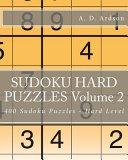 Sudoku Hard Puzzles Volume 2