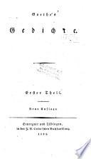 Goethe s Gedichte