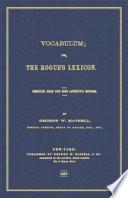 Vocabulum  Or  The Rogue s Lexicon