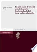 Die Universität Greifswald und die deutsche Hochschullandschaft im 19. und 20. Jahrhundert