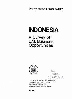 Indonesia: a survey of U.S. business opportunities