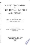 A New Geography of the Indian Empire and Ceylon