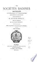 Les sociétés badines, bachiques, chantantes et littéraires