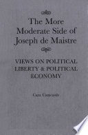 More Moderate Side of Joseph de Maistre