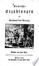 Komische Erzählungen im Geschmak des Boccaz