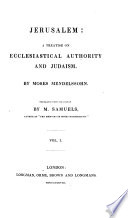 Jerusalem  a Treatise on Ecclesiastical Authority and Judaism