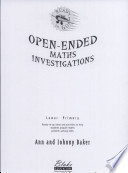 Open-ended Maths Investigations