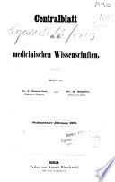 Centralblatt für die Medicinischen Wissenschaften