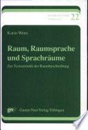 Raum, Raumsprache und Sprachräume