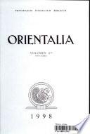 Orientalia : ...
