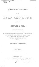 Book American Annals of the Deaf and Dumb