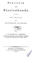 Statistik und Staatenkunde