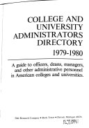 College and University Administrators Directory