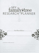My Family Tree Research Planner