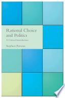 Rational Choice and Politics