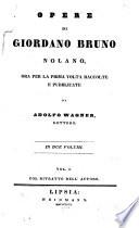 Opere di Giordano Bruno Nolano