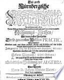 Das grosse N  rnbergische Rechen Buch  in welchem     die im b  rgerlichen Leben vorkommende     Rechnungs Arthen     richtig angezeiget     worden     Nebst einer     Einleitung zur Algebra und einer Vorrede Herrn D  J  W  Bajers