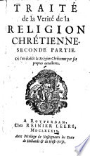 Traité de la vérité de la religion Chrétienne