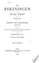 De Rekeningen Der Stad Gent Deel 1346 1349