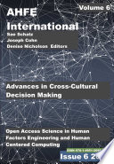 Advances in Cross-Cultural Decision Making