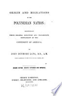 Origin and Migrations of the Polynesian Nation Book PDF