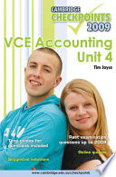 Cambridge Checkpoints VCE Accounting Unit 4 2009