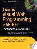 Beginning Visual Web Programming in VB  NET