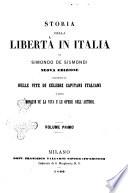Storia Della Libert In Italia