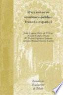 illustration du livre Diccionario económico-jurídico francés-español