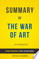 The War of Art  by Steven Pressfield   Summary Analysis