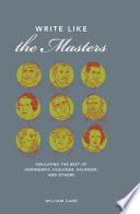 Write Like the Masters