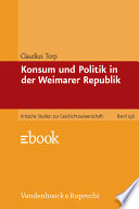 Konsum und Politik in der Weimarer Republik