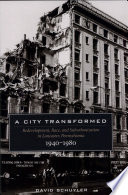 A City Transformed Redevelopment Race And Suburbanization In Lancaster Pennsylvania 1940 1980