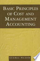 Basic Principles of Cost and Management Accounting
