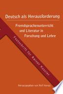Deutsch Als Herausforderung