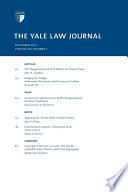 Yale Law Journal  Volume 122  Number 3   December 2012