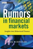 Rumors in Financial Markets