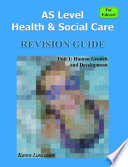 As Level Health   Social Care  For Edexcel  Revision Guide for Unit 1