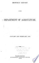 Monthly Reports of the Department of Agriculture