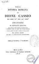 Della Istoria Romana Di Dione Cassio