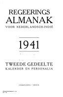 Regeerings-Almanak voor Nederlandsch-Indie