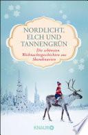 Nordlicht Elch Und Tannengr N