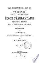 Tableaux de l ancienne   cole n  erlandaise expos  s    Bruges  catal   par W H J  Weale