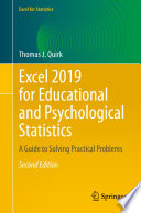 Excel 2019 For Educational And Psychological Statistics
