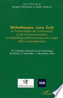 Bibliothèques, Livre, Ecrit et Technologies de l'Information et de la Communication