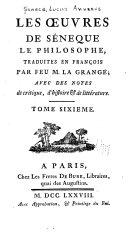 Les oeuvres de Séneque le philosophe, tome III